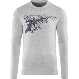 Odlo BL Alliance LS Top Crew Neck Men grey melange-mountain print SS19
